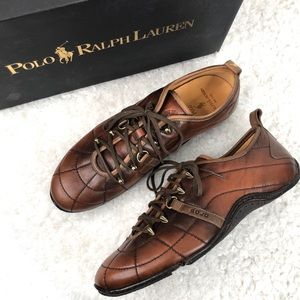Polo Ralph Lauren Mens Vieluxe Low Leather Sneaker